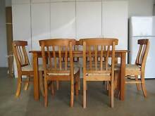 Solid timber dining room table and chairs Grasmere Camden Area Preview