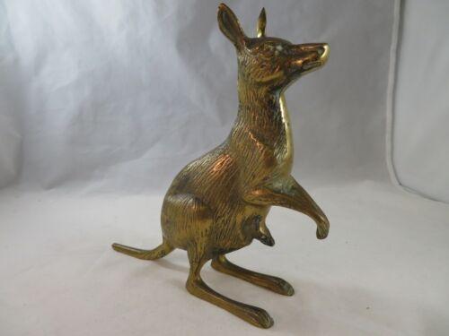 Vintage Decorative Collectibles Brass Kangaroo & Joey Figurine