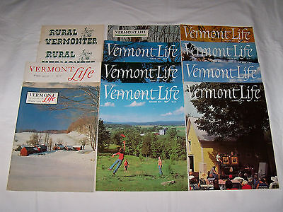 Lot of Vermont Life & Rural Vermonter Magazines 1950s to 1970s