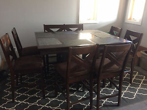 8 person counter height dining table