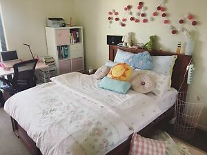 NEEDS TO GO TODAY. QUEEN SIZE WOODEN BED with mattress. Preston Darebin Area Preview