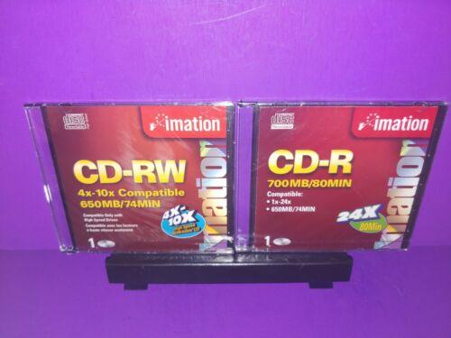 (2) Imation CD-RW 4X-10X Compatible 650MB/74MIN Brand New B495