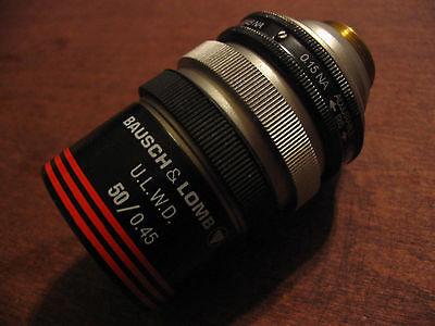 Bausch Lomb Objective 50x 0.15 Na - 0.45 Na Ulwd Microscope Mitutoyo Olympus