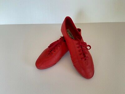L A GEAR Red Leather Lace up Sneakers Dance Workout Tennis Shoes Sz 8.5 Women