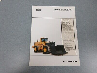 Volvo Bm L330c Wheel Loader Sales Brochure 10 Pages