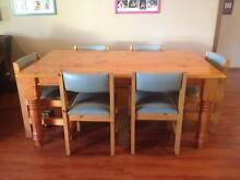 6 seater wooden dining table with 6 chairs and two bar stools Nowra Nowra-Bomaderry Preview