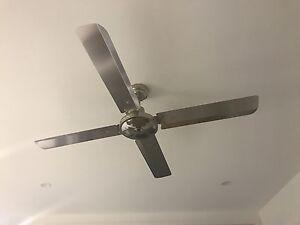 2 Aspen moretti ceiling fan 130cm stainless steel Murrumba Downs Pine Rivers Area Preview