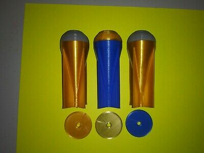 37mm 3D Printed Payload Shells With Burst Disk X3, fits metal 37mm launchers!