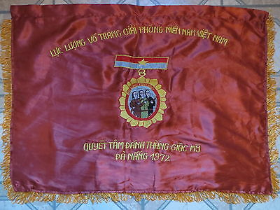 Viet Cong Battle Flag NVA - VC -  Easter Offensive , DANANG 1972 , DO THE BEST