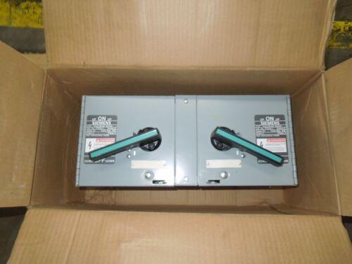 Ite Siemens V7e3611 30a 3p 600v Twin Fused Vacu-break Switch Black/teal Handle