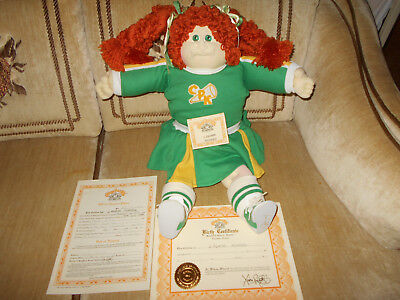 Cabbage Patch Little People Soft Sculpture Red Hair, Green Eyes , Dimples