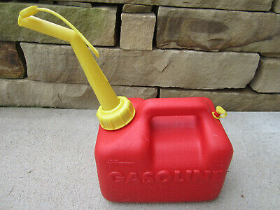 Sears Craftsman 1 Gallon Vented Gas Fuel Can & Spout Chilton P10 33624 USA