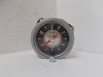 1957 Ford Thunderbird Clock. 1956 Mainline Customline Fairlane. Serviced. Works.