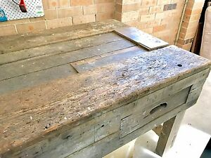 Workbench 10 ft carpenter antique Bayview Pittwater Area Preview