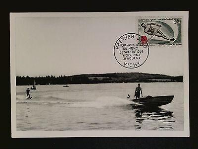 FRANCE MK 1969 SPORT WASSERSKI WATER SKIING MAXIMUMKARTE MAXIMUM CARD MC c8315