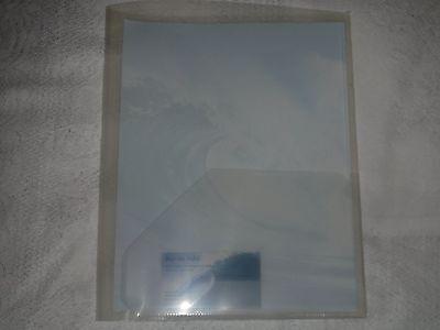 Back To School 5 Translucent Two Pocket Presentation Folders Heavy Duty Plastic