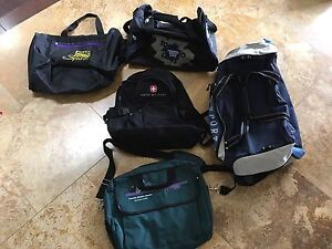 Assortment of sports bags