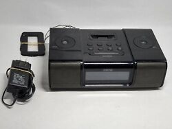 iHome iP9 Black Apple iPhone iPod 30 Pin Speaker Dock Alarm Clock Radio