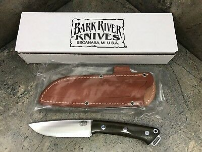 Bark River Fox River LT Green Knife 01-124MGC Brown Leather Sheath -