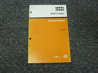 Case 855e Crawler Loader Owner Operator Maintenance Manual Bur 9-19260