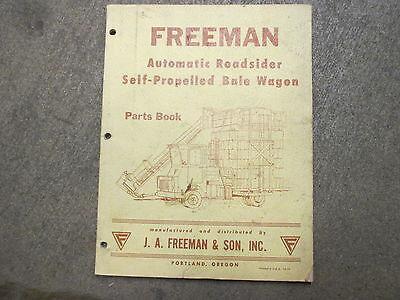 Freeman Bale Wagon Self Propelled Automatic Roadsider Parts Manual