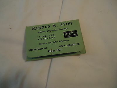 Atlantic oil kerosene gas Harold M Stiff license holder STROUDSBURG PA