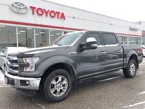 2015 Ford F-150 Lariat, Only 32330 Km's, Pwr Boards, Spray Liner
