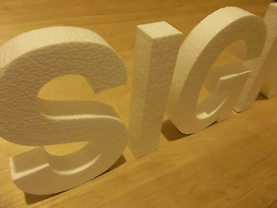 8 Inch Foam Sign Letters For Walls Buildings Crafts Etc.