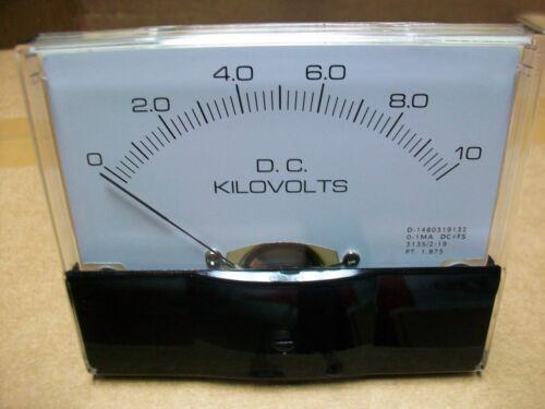 "0-10 Kv. Dc.   Panel METER  NEW  4"" X 3 1/2"""