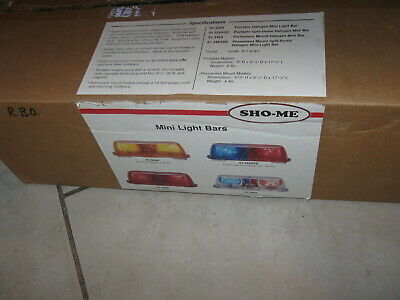 New Police Security Sho-me Split Dome Halogen Mini Light Bar Red Blue 01.3269sd