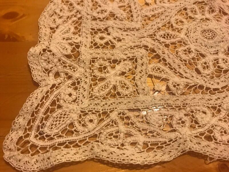 Antique Lace Tray Doily Mat Cotton Table Decor C1