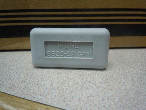 COOPER B-LINE B825-52GRY PLASTIC END CAP FOR B52/54 POLYURETHANE (QTY 50)