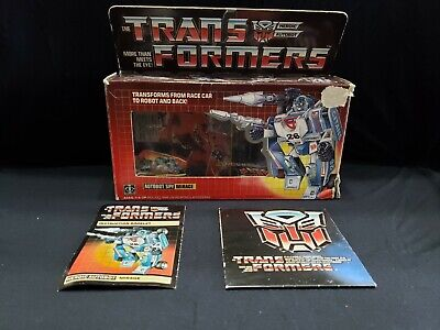 1984 Vintage Hasbro Transformers Mirage Figure Box and Instructions ONLY G1