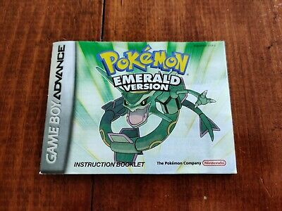 Pokemon emerald gba Manual
