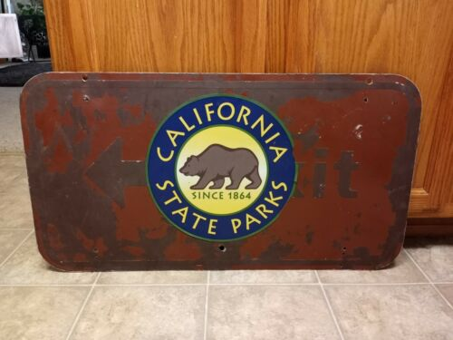 "California State Parks ""Exit"" Highway Road Camping Metal Sign 2 Sided Bear Decal"
