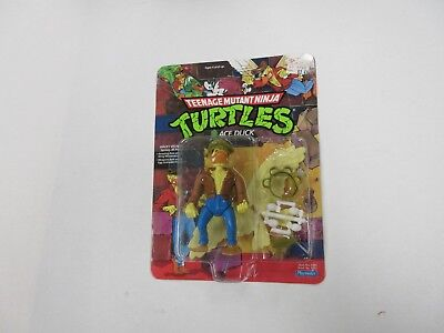 VINTAGE TMNT NINJA TURTLES ACE DUCK WITH HAT ON FIGURE UNPUNCHED FACTORY SEALED
