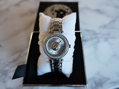 Versus By Versace VSP641818 Women's Brick Lane Crystal Silver Watch, 36mm