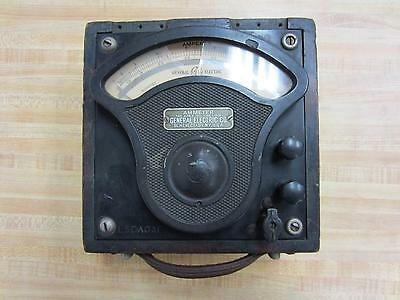 General Electric 612913 Antique Amp Meter Vintage Industrial 39065