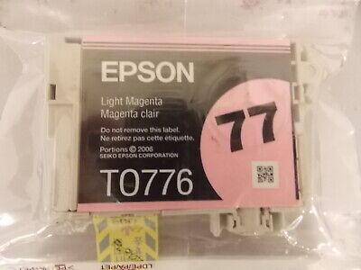 New Epson 77 Light Magenta Ink Cart T0776 -