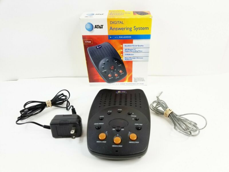 AT&T Digital Answering System (1726) 3 Mailboxes & Comes With AC Power Supply