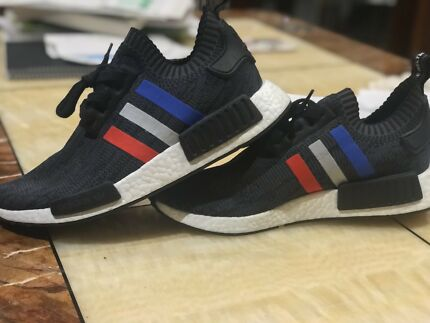 US 8.5 9 Nmd tricolour black adidas deadstock new