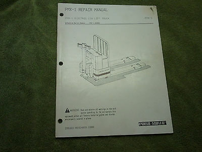 Prime Mover Electric Low Lift Pallet Truck  Repair Manual Pmx-1