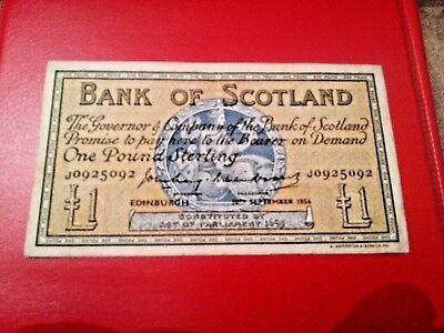 BANK OF SCOTLAND 1 POUND 1956 J0925092