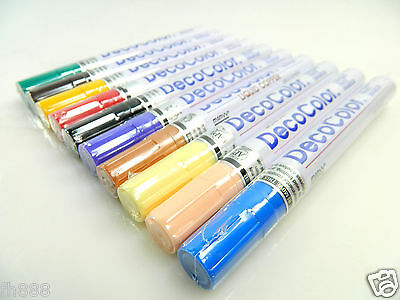 10 Mixed Color Marvy Uchida Broad Line Deco Color Opaque Paint Marker ()