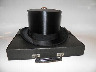 Antiker XXL Zylinder Hut Chapeau Claque Klappzylinder Top - Top Hat Schwarz