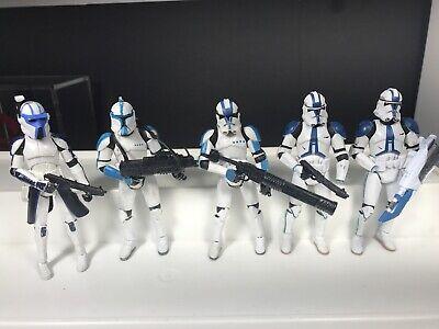 Star Wars ROTS 501st Legion Clone Trooper Lot With Accessories