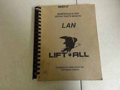 Lift-All LAN Maintenance and Repair Parts Manual