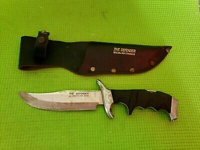 Vintage  The Best Defense knife in sheath, 440 stainless (Best Stainless Steel Survival Knife)
