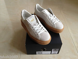 puma rihanna white suede creepers fenty all sizes limited. Black Bedroom Furniture Sets. Home Design Ideas