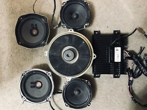 bose speakers, sub and amp